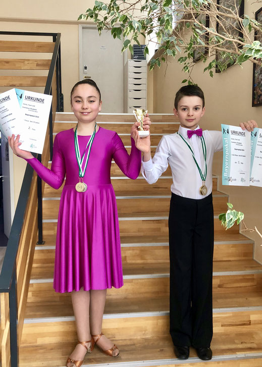 Bayernpokal Junioren II Latein Gewinner. Tanzschule Kinder Grace&Soul dance world