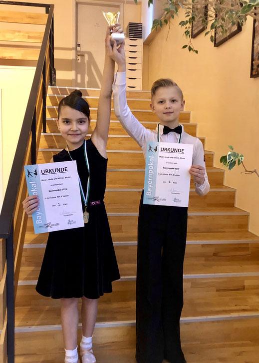 Bayernpokal Kinder Latein Gewinner. Tanzschule Kinder Grace&Soul dance world