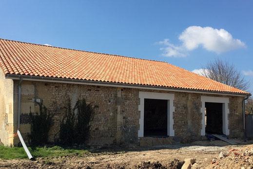 Création d'ouvertures en pierres Dufrene renovation jarnac