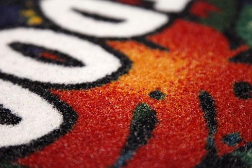 Logomatten Logomatte individuell bedruckt bedrucken selbst fußmatten eingangsmatten schmutzfangmatten matt logo design outdoor