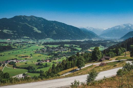 Schöne Aussicht auf Saalfelden am Steinernen Meer in Österreich