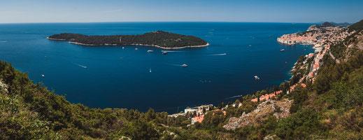 Stadtpanorama Altstadt von Dubrovnik an der Küste Adrias