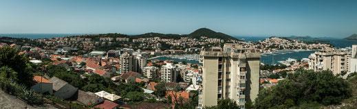 Wohnhäuser von Dubrovnik Wohnen am Adriatischen Meer in Kroatien