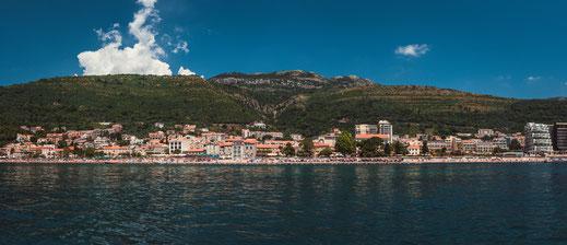Strand in Petrovac - Einer der schönsten Strände in Montenegro kostenlos herunterladen