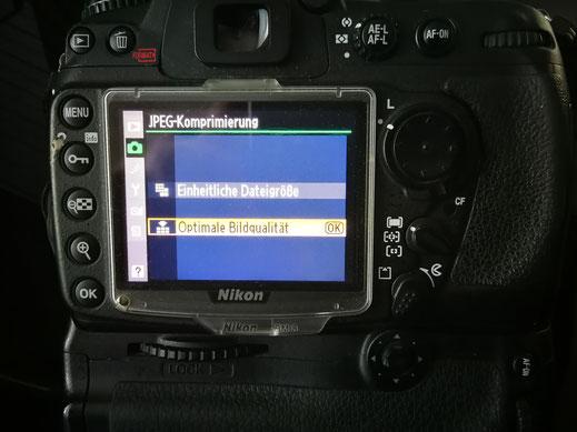 Optimale Bildqualität für RAW Dateien mit mindestens 14 Bit ohne Komprimierung auswählen.