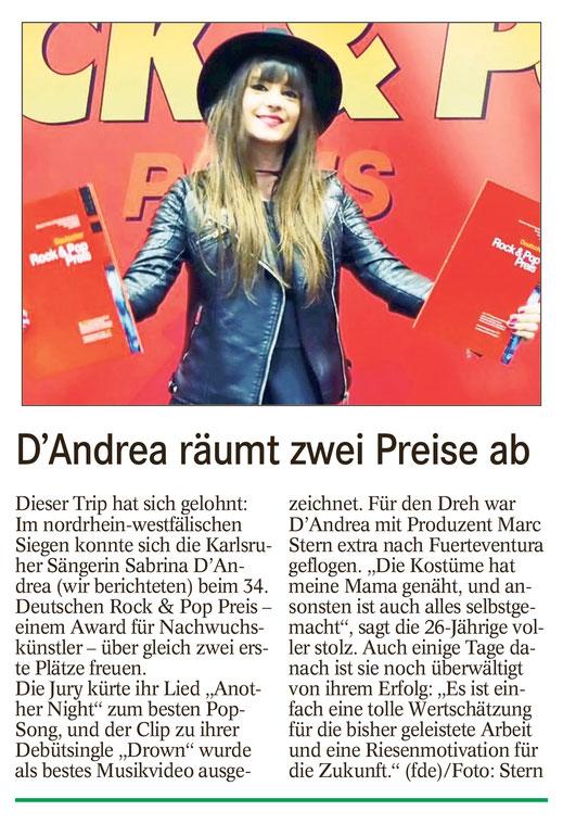 Badisches Tagblatt, Sabrina D'Andrea