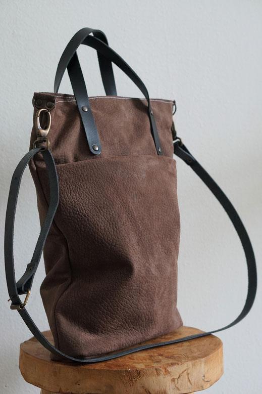 5d8e8f4728a Handgemaakte leren tas || shopper AIRE - BAGGAD | Handgemaakte leren ...