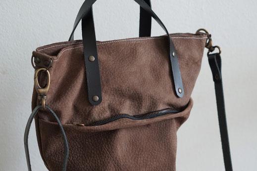 2991638da54 Genoeg Handgemaakte leren tas || shopper AIRE - BAGGAD | Handgemaakte &JW68