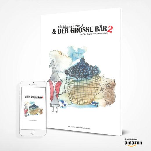 Die kleine Hexe und der große Bär ist eine Kinderbuchreihe mit Aquarellzeichnungen. Ein Kinderbuch, eine Gutenachtgeschichte zum vorlesen.