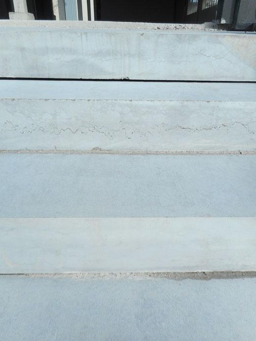 Marche d'escalier en pierre d'Ardèche - Rolleville
