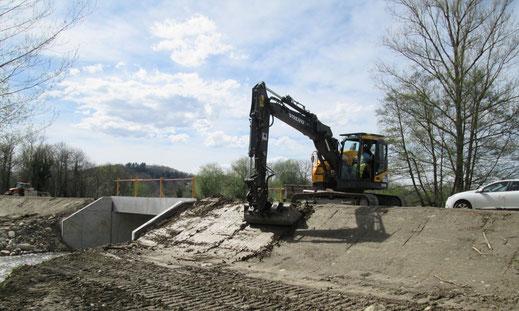 Réalisation de chantiers de terrassement : terrassement et talutage - déviation