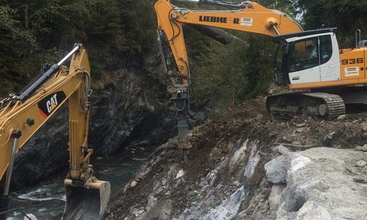 Réalisation de chantiers de terrassement - travaux de terrassement au marteau brise roche - déchetterie