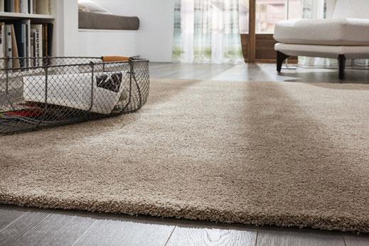 Vinyl Design Bodenbelag mit beige Teppich