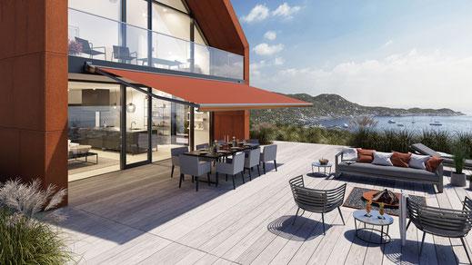 markilux MX-3 Gelenkarmmarkise für Terrasse und Balkon