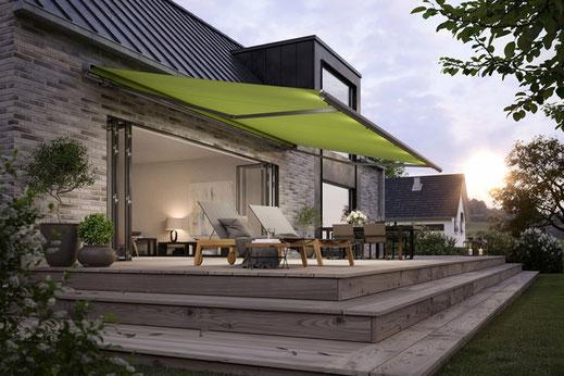 markilux 1600 - Halbkassetten Gelenkarmmarkise für Terrasse und Balkon