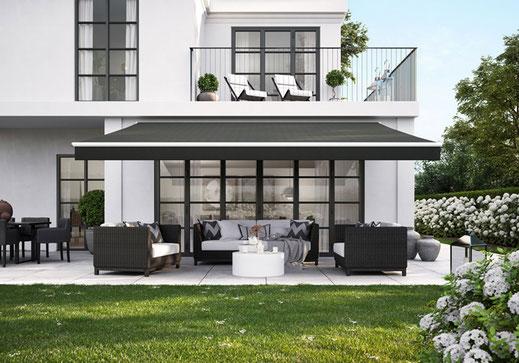 markilux 1700 - Offene Gelenkarmmarkise für große Terrassen und Balkone
