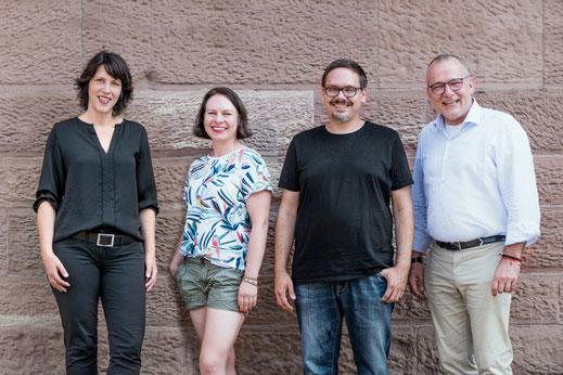 Die 4 Gesellschafter von Unterschied & Macher: Elke Schreckenbach, Heike Rehm, Benedikt Eger, Michael May (von links)