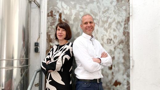 Unsere Kollegen Elke Schreckenbach und Simon Hentschel