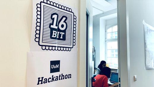 Kollegen von Unterschied&Macher beim Hackathon