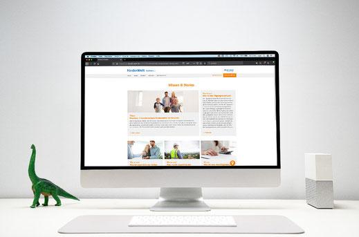 Unterschied & Macher | Eindruck der Webseite Foerder-welt.de