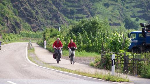 De fietsroute langs de Moezel - tussen wijnbergen en water