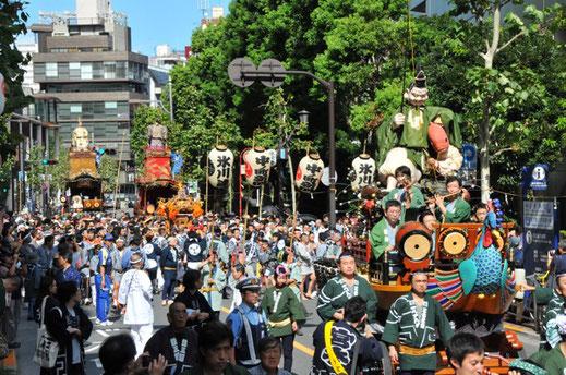 赤坂氷川祭,氷川連,宵宮巡行,江戸型,山車,徳川幕府