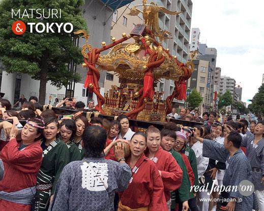 牛嶋神社祭礼, 2016年(平成28年) 9月, 亀沢四丁目, 大神輿渡御, 女神輿
