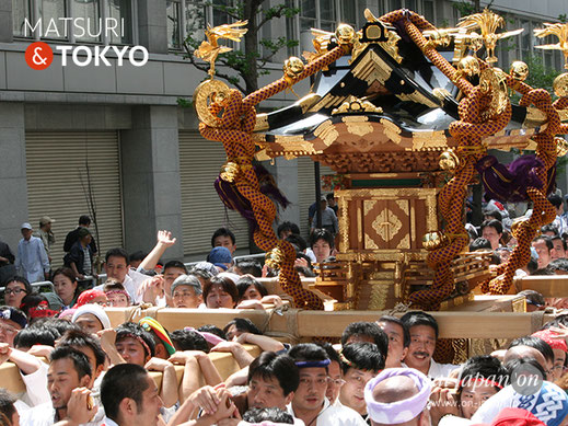 神田祭(陰祭り)将門塚保存会大神輿渡御 平成30年 @real Japan 'on