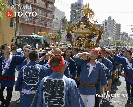 牛嶋神社大祭, 2012年(平成24年) 9月, 横川一丁目, 大神輿渡御