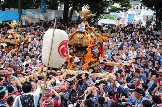 八幡神社, 連合神輿渡御,3年に一度,2018.9.2