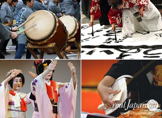 日比谷大江户祭, 现场表演, 以各种各样的传统文化·艺术(音乐伴奏,和太鼓,舞蹈,和乐器等)