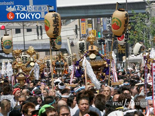 下谷神社大祭, 2018年度, 本社千貫神輿, 上野神輿, 御徒町, アメ横神輿渡御,