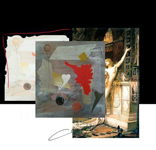 """""""Rosso relativo"""" 188x170 cm. Opera di Francesco Cannone"""
