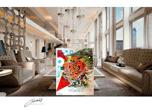 """""""Verso l'amore"""" tecnica mista su tela 98x108 cm. francesco cannone artista pittore abtract artist painter"""