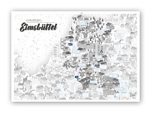 Hamburg Bezirksteilposter Eimsbüttel