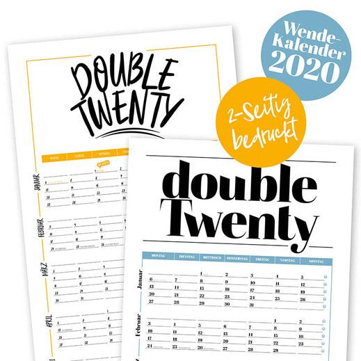"""Wandkalender 2020 """"Double Twenty"""", Kalender, Wendekalender"""