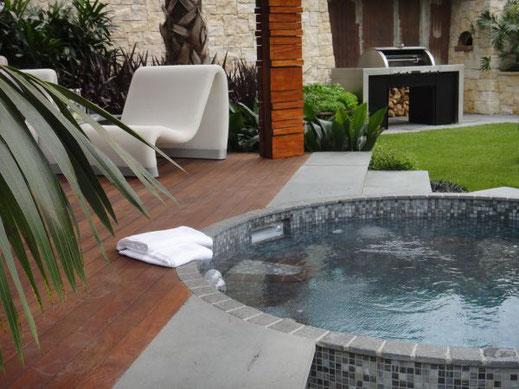 Gärten werden heute oftmals ebenso aufwändig gestaltet wie die Innenarchitektur...