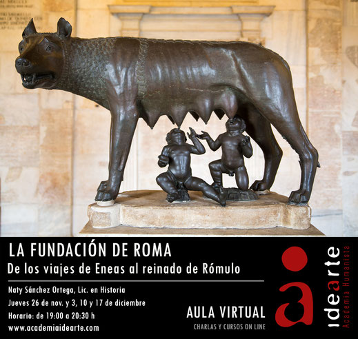 fundación de Roma; Rómulo y Remo; loba capitolina; historia; Academia Idearte;
