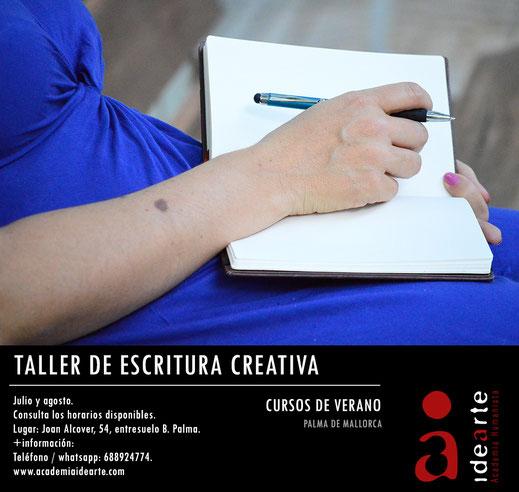Taller de escritura; escritura creativa; 2021; verano; cursos de verano; Palma de Mallorca; taller veraniego;