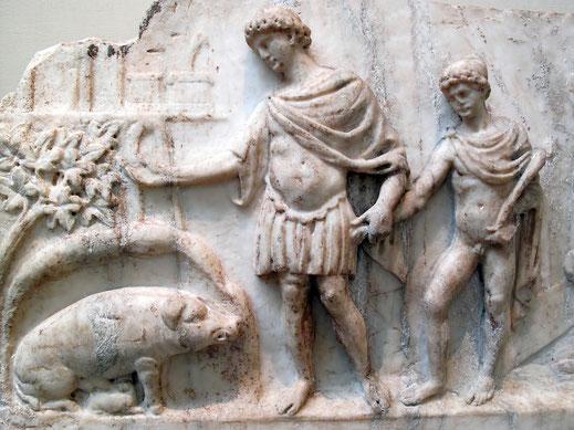 Eneas; Ascanio; Italia; orígenes de Roma; historia;