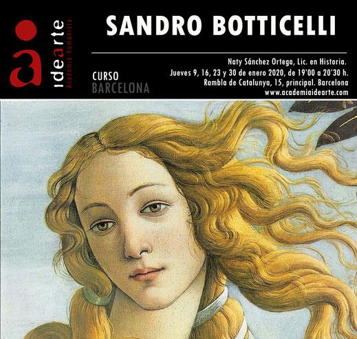 cursos de arte; Barcelona; Botticelli; pintura; Renacimiento italiano; Florencia; Roma;