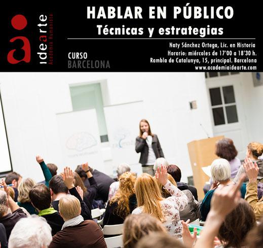 oratoria; hablar en público; cursos; Barcelona;