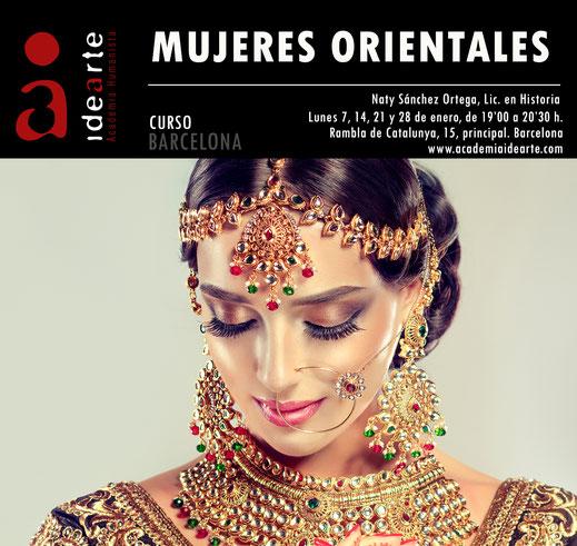 mujeres orientales; Oriente; La India; China; Japón; cursos; Barcelona; Palma de Mallorca; Naty Sánchez Ortega;