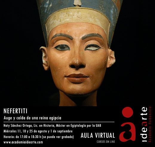 Amarna; Nefertiti; Akhenaton; Meritatón; Ankhesenamón; Tiyi; Kiya; cursos; egipto; Palma de Mallorca; Naty Sánchez Ortega;