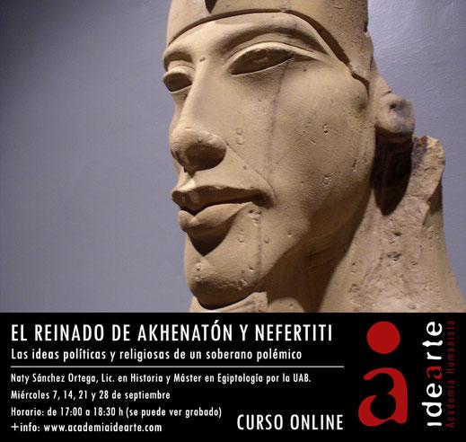 Akhenaton; cursos de Egiptología; Palma de Mallorca; Nefertiti;