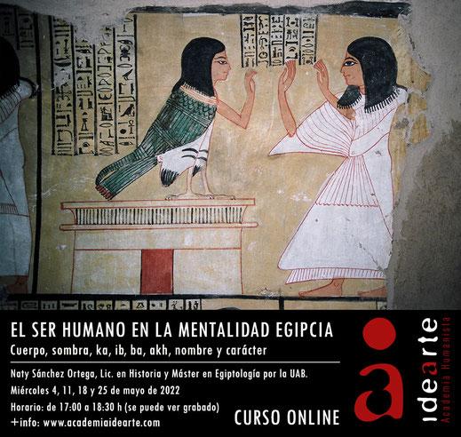 ka; ba; akh; el espíritu humano; Egipto; egiptología; religión egipcia; cursos; Palma de Mallorca;