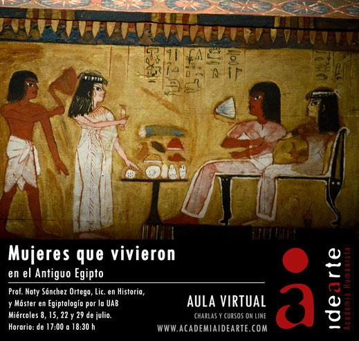 mujer en Egipto; curso; Barcelona; egiptología; Palma de Mallorca;