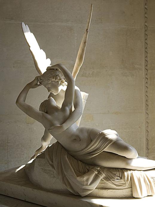 Cupido; Eros; Psique; amor; Antonio Cánova; escultura; el amor en el arte;
