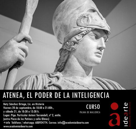 Atenea; Minerva; mitología griega; historia de las religiones; cursos; Barcelona;