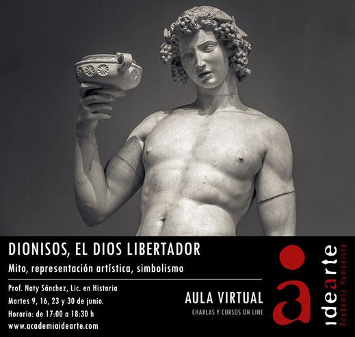Dionisos; Baco; mitología griega; cursos; España; on Line; Academia Idearte;